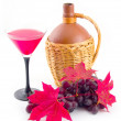Ceramic vessel with red easy wine — Stock Photo