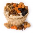 Dry fruit in a basket — Stockfoto