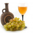 Stock Photo: Grapes and wine