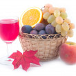 Grapes in a yellow basket — Stock Photo #1771758