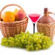 Green tasty grapes — Stock Photo