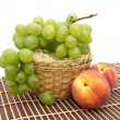Stock Photo: Peaches and grapes