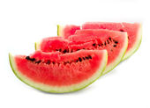 Astrakhan sugar red and ripe watermelon — Stock Photo