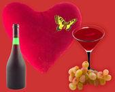 Grande coração vermelho — Fotografia Stock