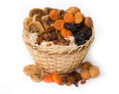 Dry fruit in a basket — Stock Photo