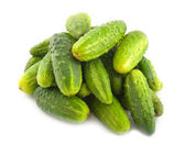 Ripe green cucumbers — Stock Photo