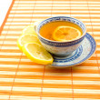 Useful tea with lemon - Stock Photo