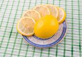 Tasty fragrant sour lemon — Stock Photo