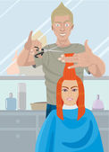 Hairdresser — Stock Vector