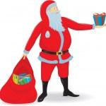 Santa's Present — Stock Vector