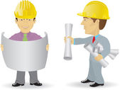 Two constructors — Stock Vector