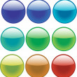 Glass balls — Vector de stock