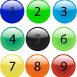 Royalty-Free Stock Vektorfiler: Glass balls with digits