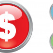Stock Vector: Button money