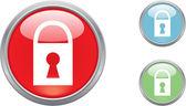 Button lock — Stock Vector