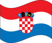 Flag_croatie — Vector de stock