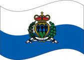 Flag_saint_marin — Stock Vector