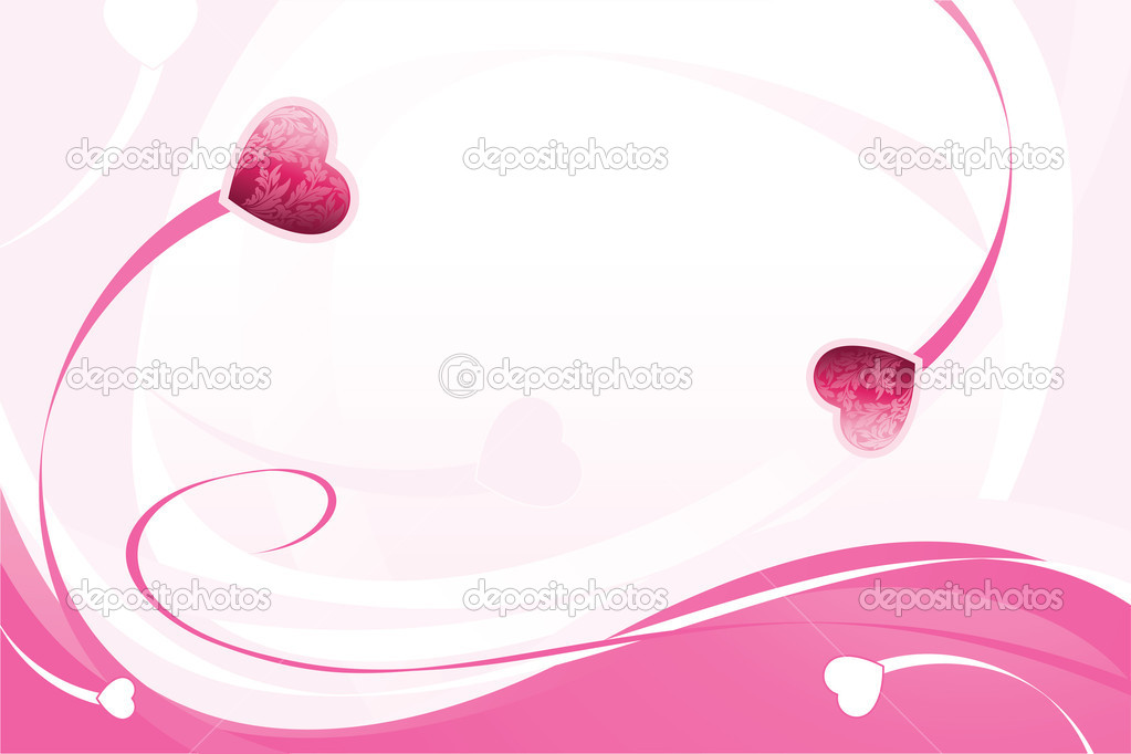 Valentine's Day Background with hearts in pink color — Stock Vector #1726537