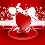 Creative tarjeta de día de San Valentín — Vector de stock