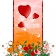 Royalty-Free Stock Vectorielle: Creative grunge Valentines Day card