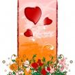 tarjeta del día de San Valentín creativo grunge — Vector de stock