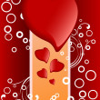 Royalty-Free Stock Vektorov obrzek: Creative Valentines Day card