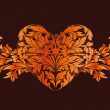 Stylized Valentine's Day Heart — Stockvectorbeeld