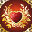 Golden Heart — Stock Vector #1777251