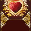 Postcard with Heart - Image vectorielle
