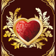 Postcard with Heart - Imagen vectorial