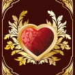 Royalty-Free Stock Imagem Vetorial: Postcard with Heart