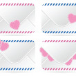 Valentines letter icon — Stock Vector