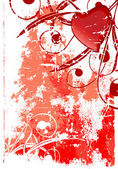 Abstraktní grunge valentine karta — Stock vektor