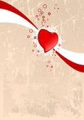 Carte de saint valentin grunge — Vecteur