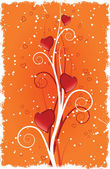 Kalp swirls ile — Stok Vektör