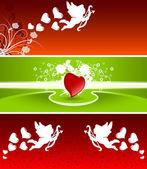Valentine banners — Stock Vector