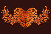 Stylized Valentine's Day Heart — Vecteur