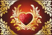 Gouden hart — Stockvector