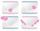 ícone de carta de dia dos namorados — Vetor de Stock