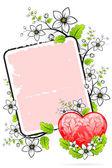 Valentine's Day card — Cтоковый вектор