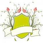 Vector grunge floral heraldic plate — Stock Vector #1813468