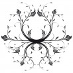Vector Floral Swirl — Stock Vector