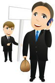 Businessman with mobile phone — Stock Vector