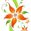 Abstract vector flower background - Imagens vectoriais em stock
