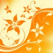 Vector flower background with butterfly - Imagen vectorial