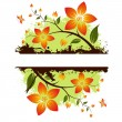 Grunge floral background — Stock Vector