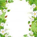 Grunge Floral frame — Stock Vector #1829777