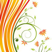 Floral design vector — Stock Vector