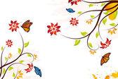 Grunge vector flower background — Stock Vector