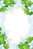Spring Flowers frame — Stock Vector
